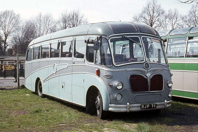 Bostock . Congleton , Cheshire . BJP74 . Wembley Stadium Coach Park , London . Saturday 02nd-May-1970 .