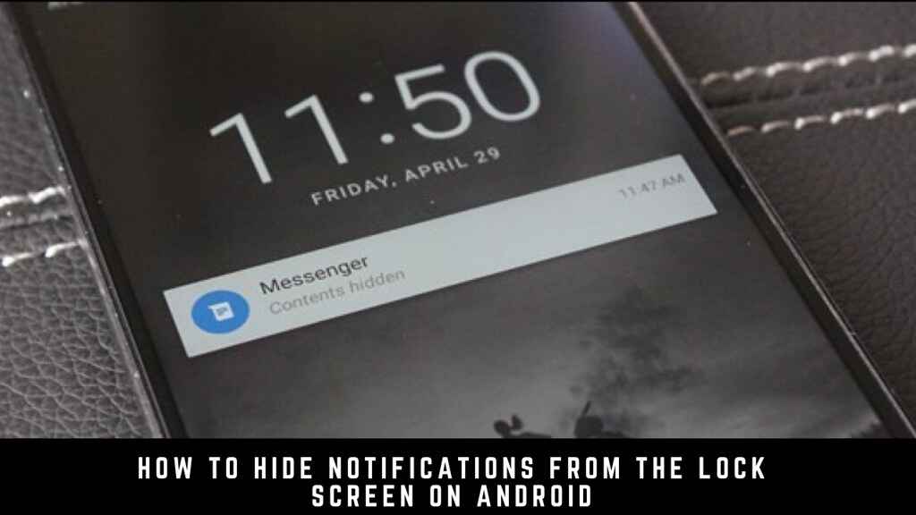 How to hide notifications from the lock screen on Android