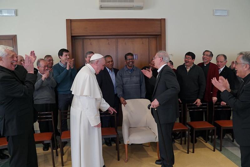 Adolfo Nicolás, sj., con el Papa Francisco
