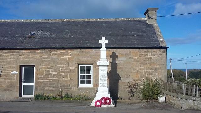 Cummingston War Memorial, Cummingston, Moray, March 2020