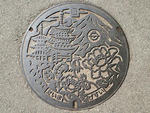 Taima Nara, manhole cover 2 (奈良県北葛城郡當麻町のマンホール2)
