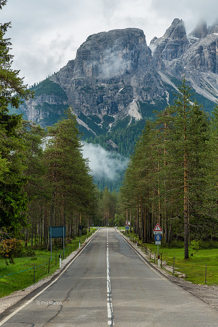 The road to Auronzo, Italy