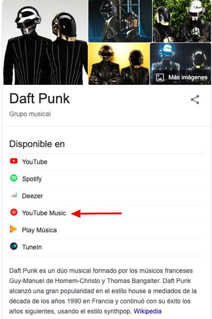 google enlaza a youtube music