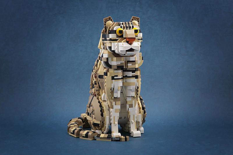 【狗神磚創Moc】石虎 - Leopard cat