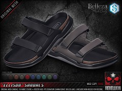 "= REBELLION = ""ELLISON"" SANDALS"