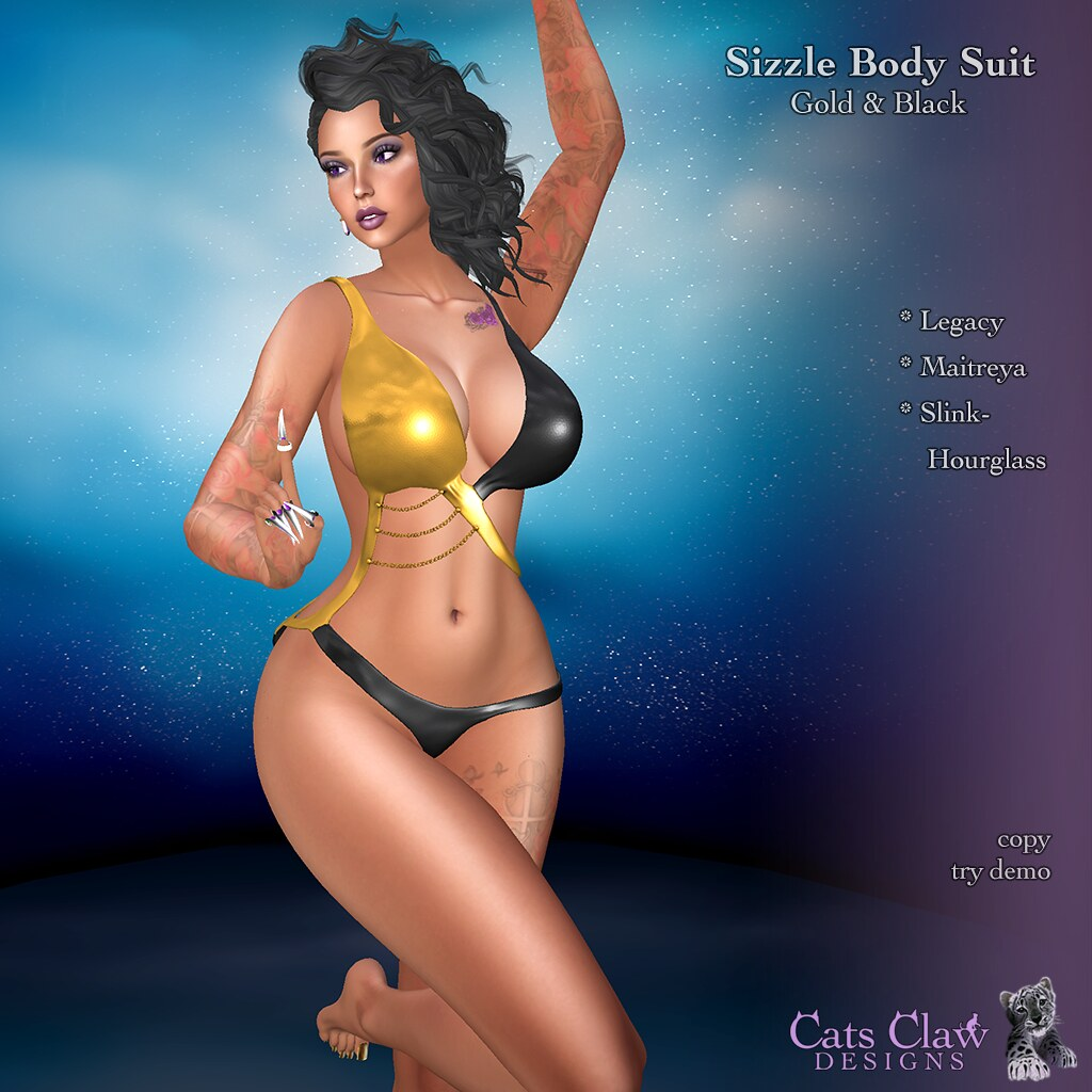_CCD_Sizzle Body Suit Gold & Black-AD