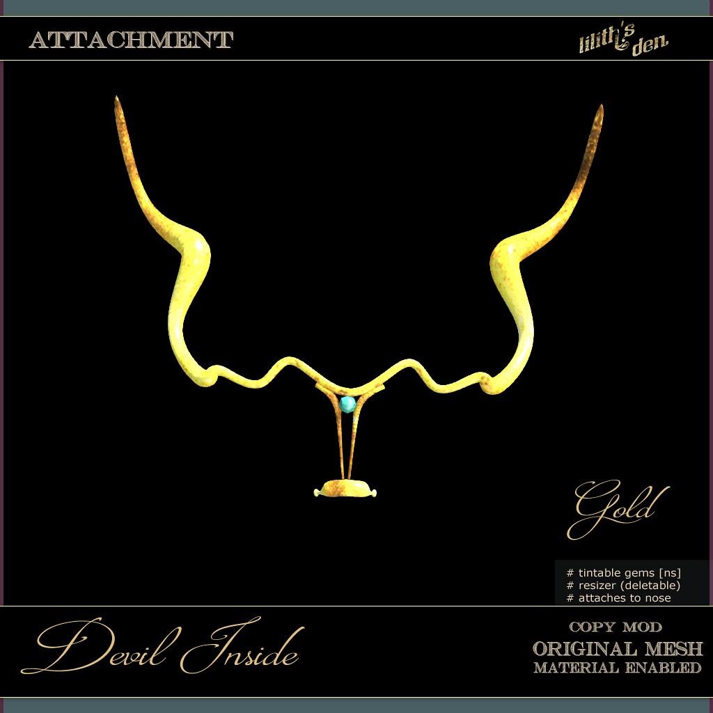 LD Nose Cuff – Devil Inside – g o l d