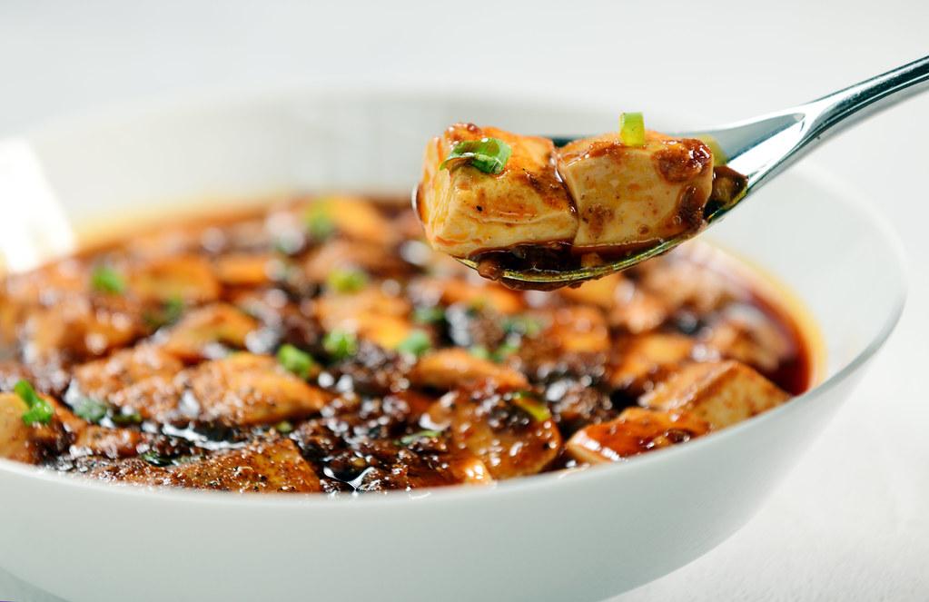 Mushroom mapo tofu ¬È∆≈∂π∏Ø