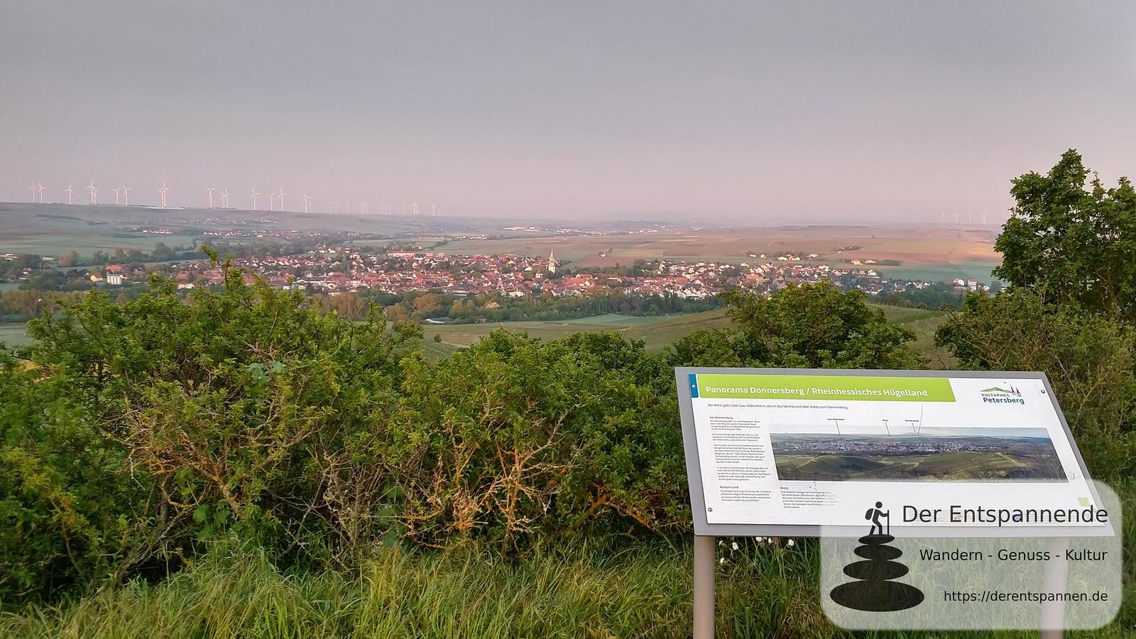 Blick auf Gau-Odernheim vom Petersberg (Rheinhessen)