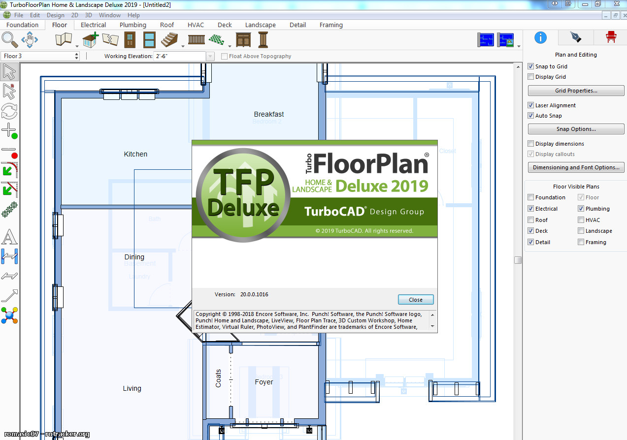 Working with TurboFloorPlan 3D Home & Landscape Pro 2019 full license