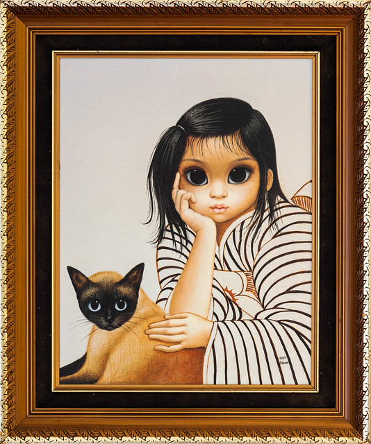 Young Girl with Cat, MDH Keane