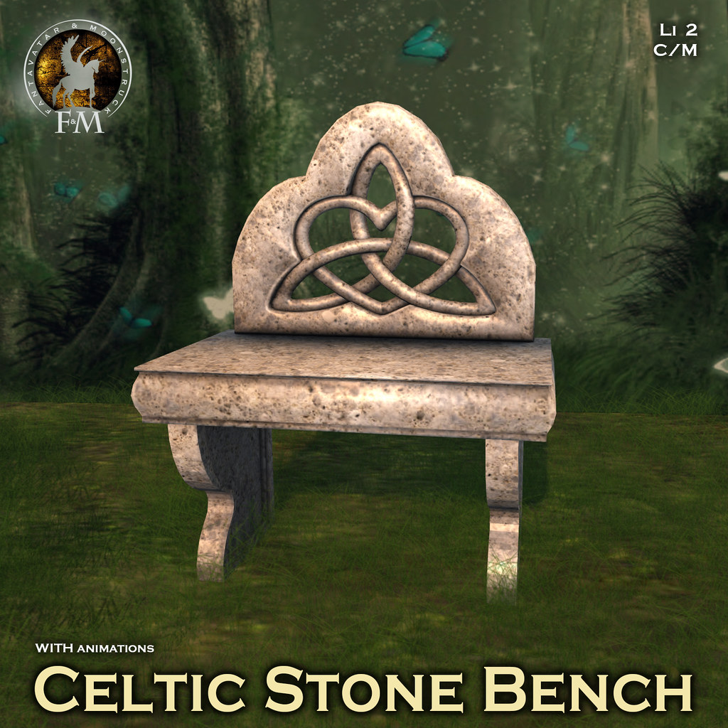 F&M Celtic Stone Bench
