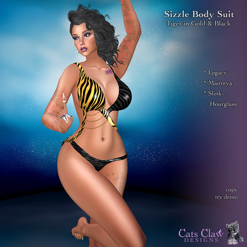 _CCD_Sizzle Body Suit Tiger in Gold & Black-AD