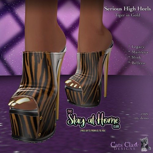 _CCD_Serious High Heels Tiger in Gold-AD Stay at home gift