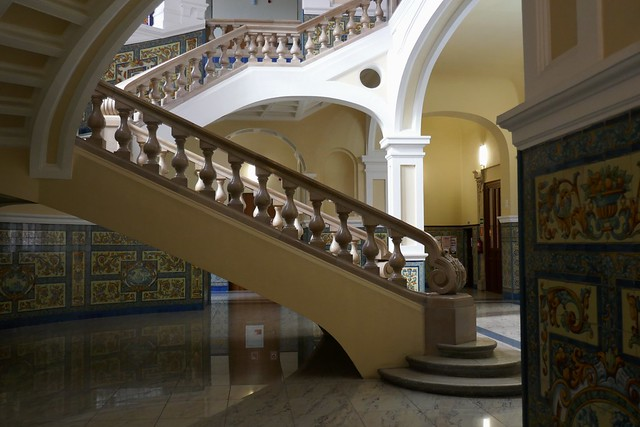 Hall art nouveau de la Faculté de Droit, Université de Valladolid, Castille-Léon, Espagne.