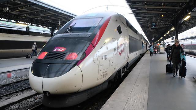 ルクセンブルク駅(Gare de Luxembourg)からTGVでパリ東駅(Gare de l'Est)到着