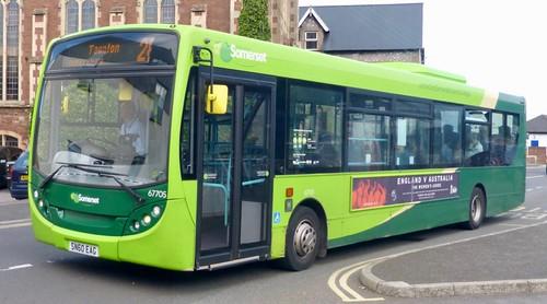 SN60 EAG 'First South West' No. 67705 'the buses of Somerset'. Alexander Dennis Ltd. (ADL) Enviro 300 / 'ADL' Enviro 300 /1  on Dennis Basford's railsroadsrunways.blogspot.co.uk'