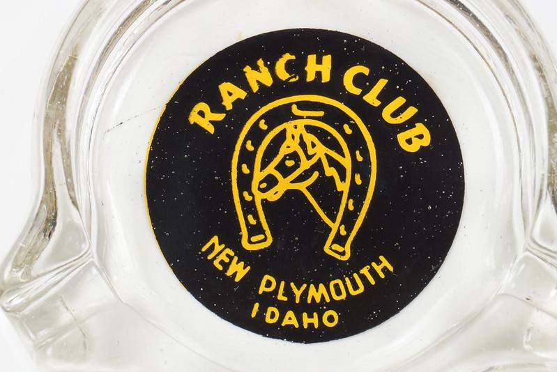 RD19586 New Plymouth Idaho Illegal Closed RANCH CLUB Casino Ashtray Trilobe DSC03666