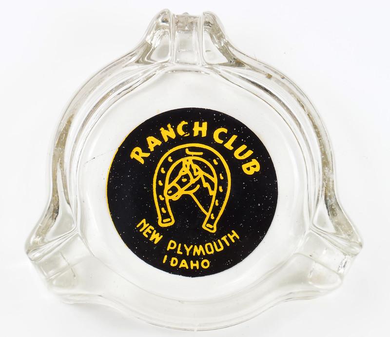 RD19586 New Plymouth Idaho Illegal Closed RANCH CLUB Casino Ashtray Trilobe DSC03665