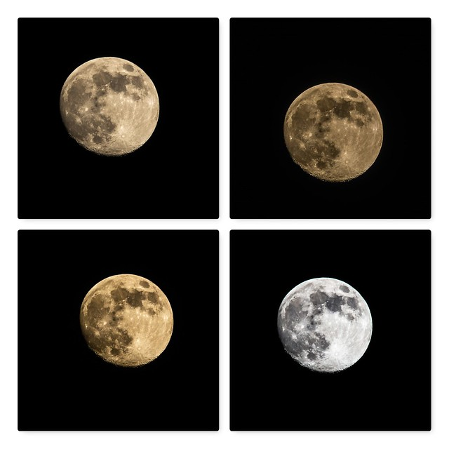 Tonight's moon with different setting
