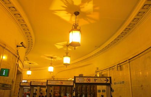 Interior, Ploshchad Vosstaniya, St Petersburg Metro