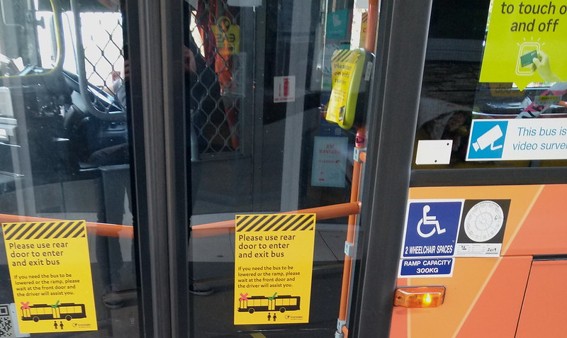 Rear door boarding due to COVID-19, Transdev Melbourne