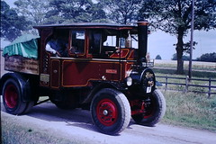 ee20213 posted a photo:	Foden (Sandbach) 1925 built 6T steam wagon TD3236 'Matilda', is captured whilst moving around the Steam Rally being held at the Staffordshire County Showground.18th July 1970