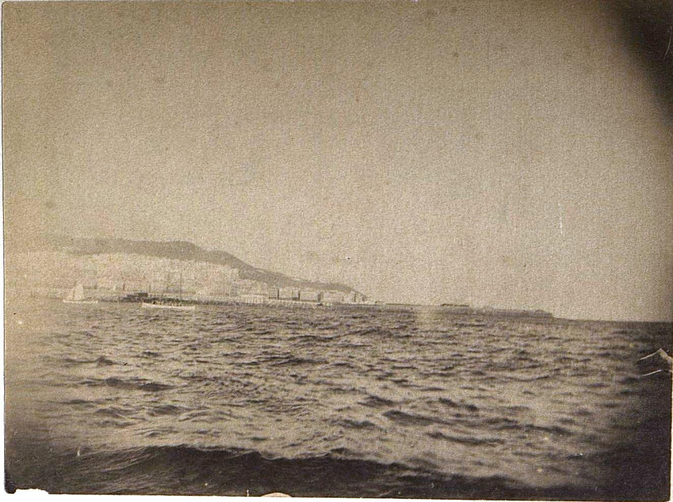 1897. Вид Алжира с моря. Декабрь