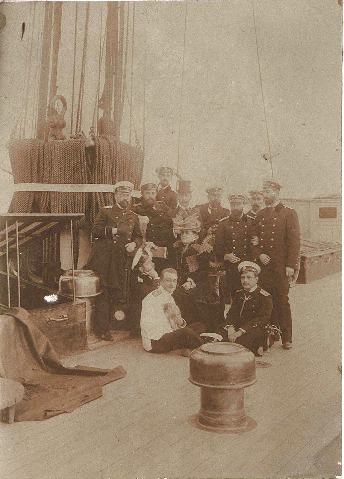 1897. Алжир. Месье и мадам Де Раддаз в гостях на борту крейсера «Владимир Мономах». Декабрь