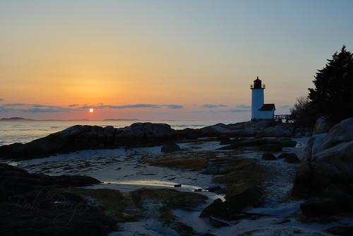 sunset sunrise ocean light lighthouse annisquam gloucester massachusetts reyes d800 nikon faro tramonti