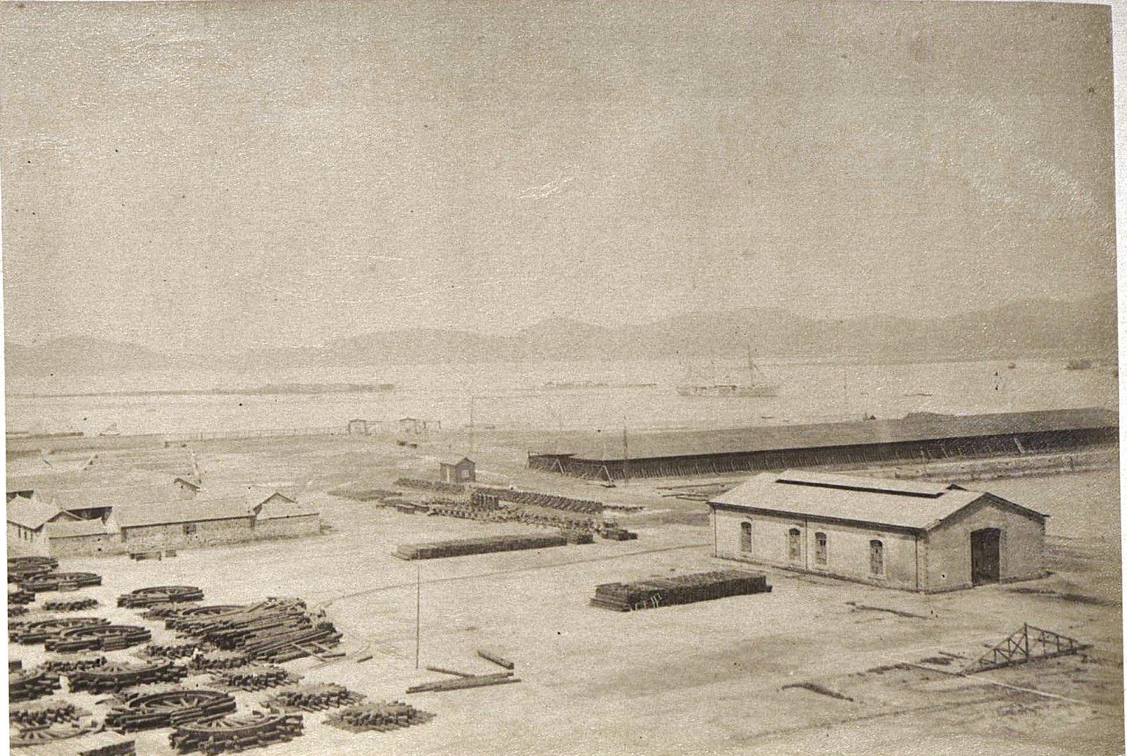 1898. Порт-Артур. Вид на Западный бассейн