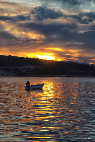 sky clouds sea fishing sun sunset dusk reflection canon hrvatska croatia europe
