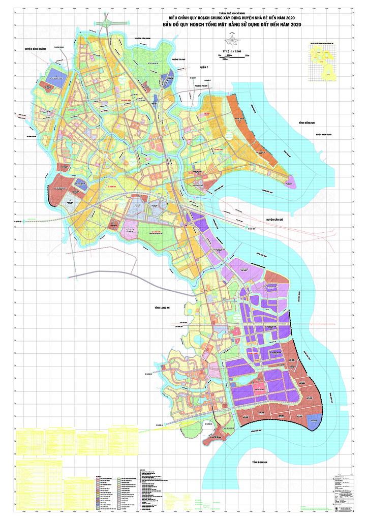 Bản đồ quy hoạch huyện nhà bè 2020