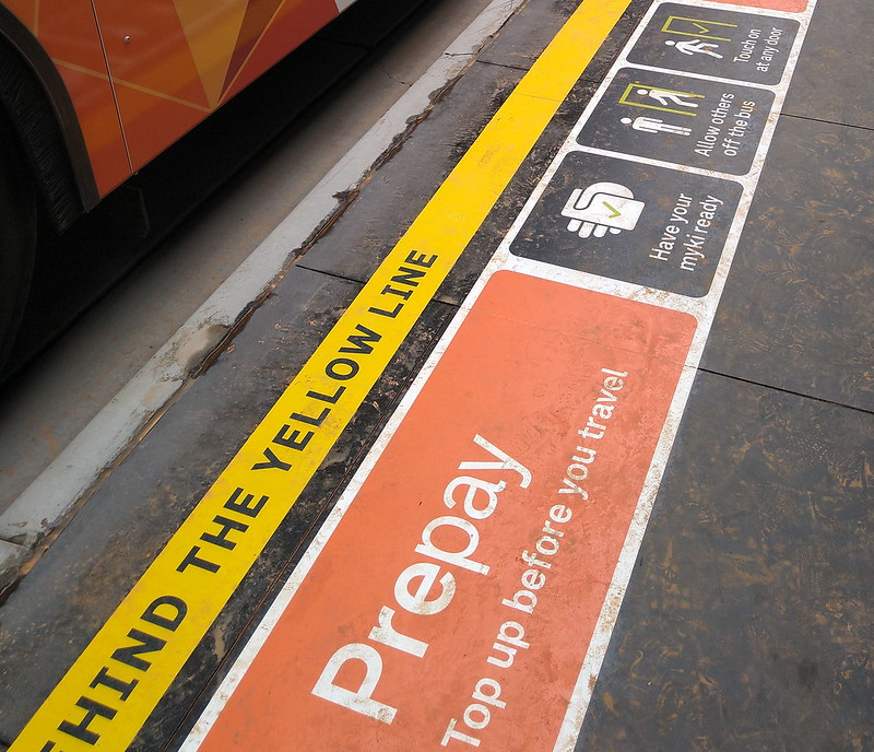 Bus 601: Prepay and all-door boarding trial at Monash University