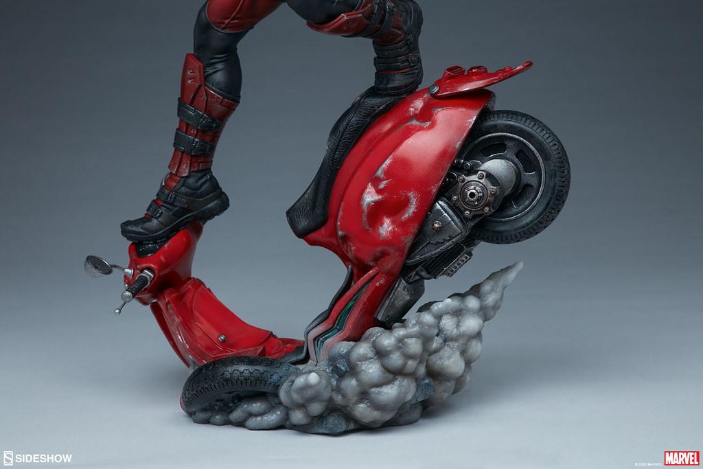 用刀叉模仿金鋼狼計畫通?! Sideshow Collectibles Premium Format Figure MARVEL【死侍】Deadpool 1/4 比例全身雕像 普通版/EX版
