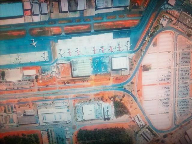 Brasilia on my screen #toronto #brasilia #satelliteimage #googleearth #googlehome #television