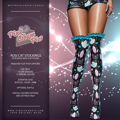 Rosi Cat Stockings @ Fly Buy Friday!