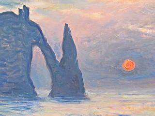 The Cliff, Etretat, Sunset--Monet 2