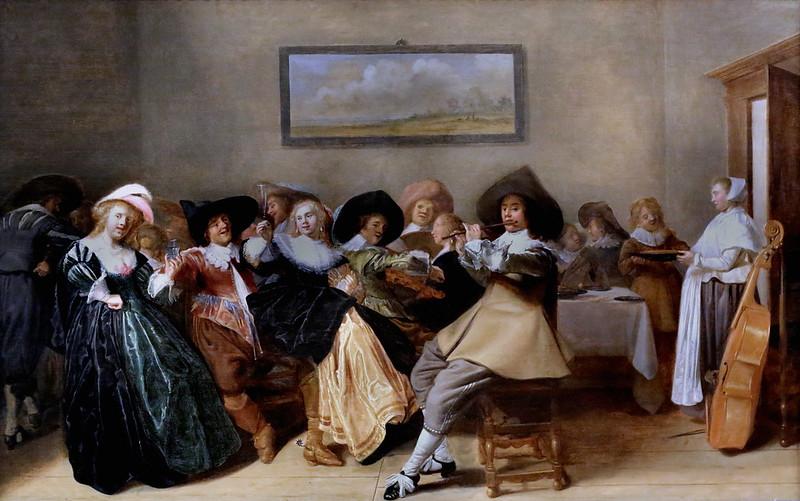 IMG_3183A Dirck Hals. 1591-1656. Haarlem.   Joyeuse Compagnie.  Merry Company. Hannover. Landesmuseum.