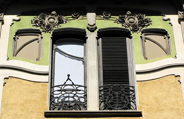 LIBERTY A TORINO - Palazzina Rossi-Galateri, via Passalacqua 14. Progetto (1903) dellâIngegner Pietro Fenoglio (1865 Torino - 1927 Corio).