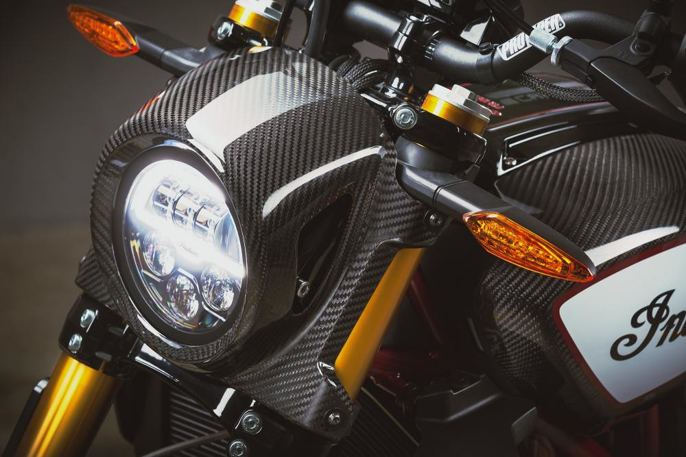 Indian FTR 1200 Carbon Front Carbon