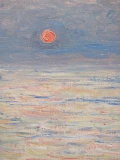 The Cliff, Etretat, Sunset--Monet 4