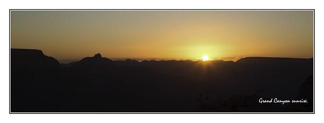 Grand Canyon sunrise panorama.
