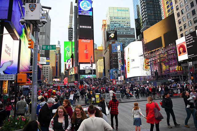 Times Square Before Social Distancing