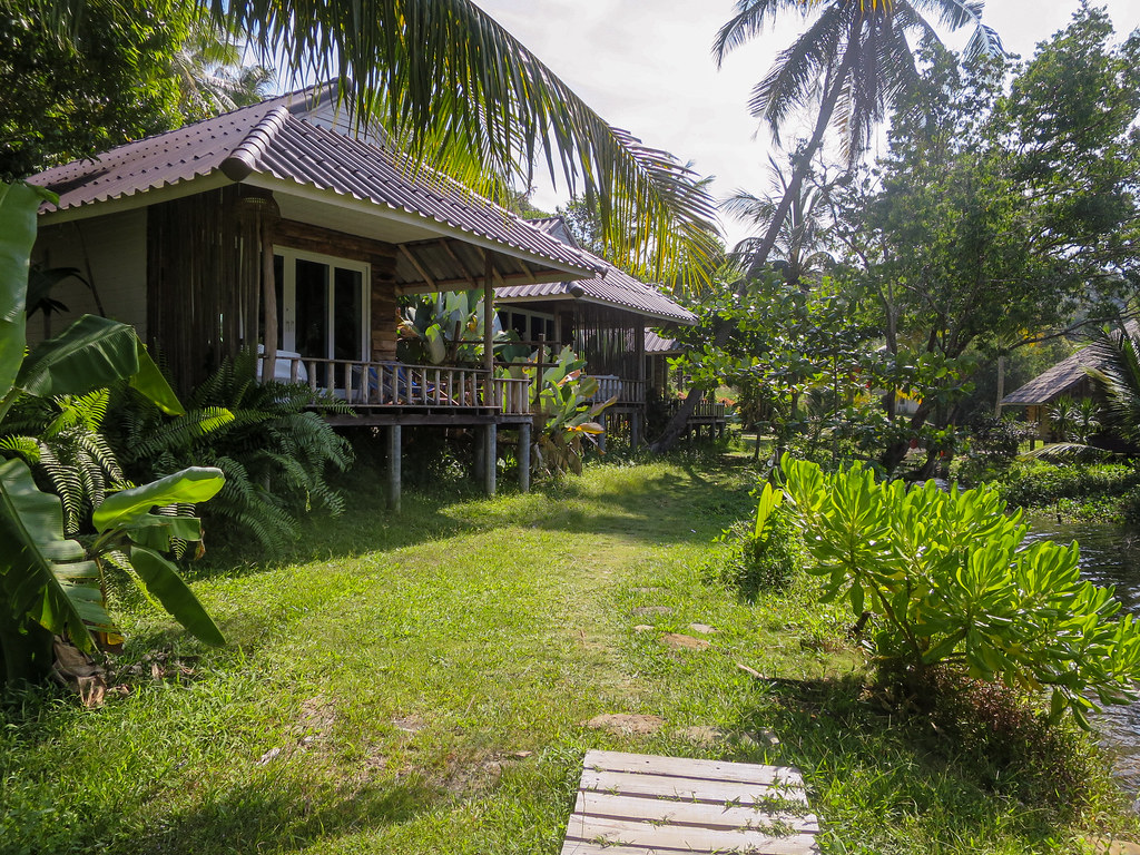 Some of the bungalows at A-Na-Lay Resort Koh Kood