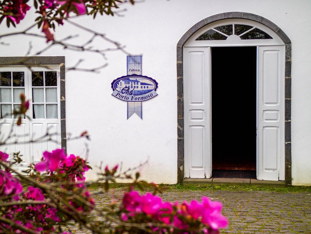 Entrada a la Plantaciones de té en São Miguel llamada Porto Formoso