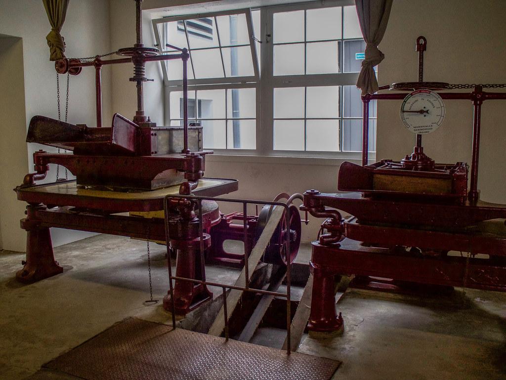 Interior de la fábrica de té de Porto Formoso en Sao Miguel