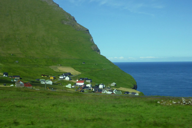 View from a bus on the island of Kalsoy