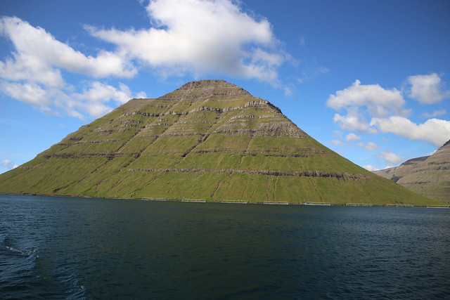 View from the ferry to Kalsoy