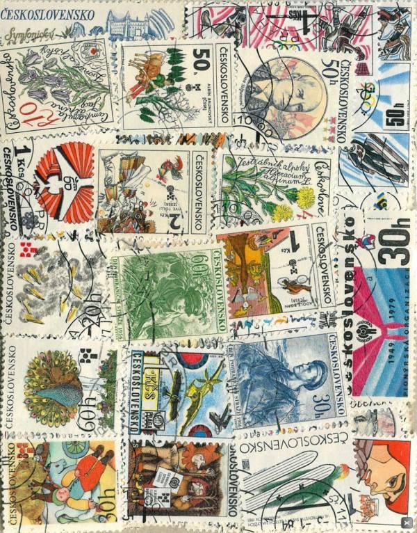 Známky Československo balíček 200 ks rôznych pamätných